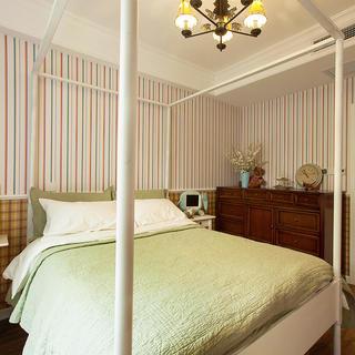 美式风格98平三居装修图