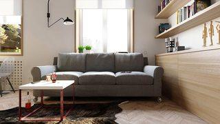 80㎡简约两居室装修装饰效果图