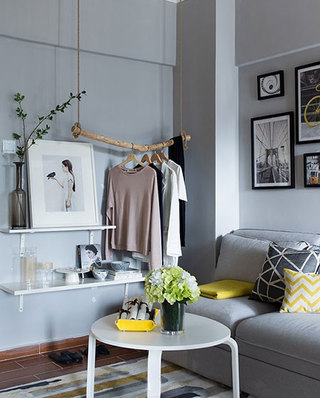 小户型公寓装修简易衣架图