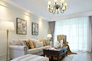 130平美式风格三室两厅设计图