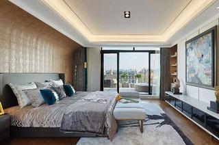 现代风格样板间装修主卧室效果图