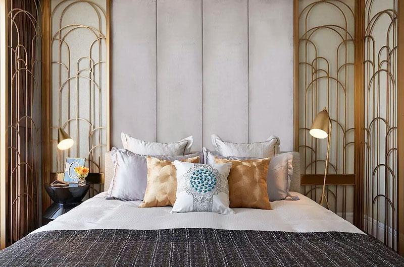 精美新古典卧室背景墙设计