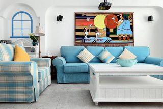 地中海婚房设计客厅图片