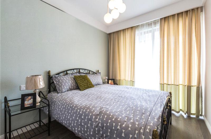 90平北欧风格公寓卧室窗帘图片-您正在访问第3页 装修效果图案例