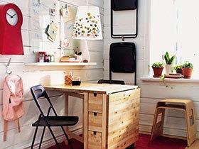 10个小户型餐厅折叠餐桌效果图 省空间必备