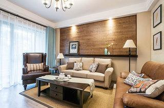古典混搭客厅实木背景墙设计