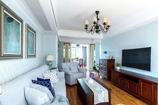 98平美式风格两居客厅效果图