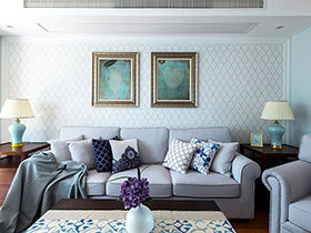 98平美式风格两室两厅装修图 淡淡青草香