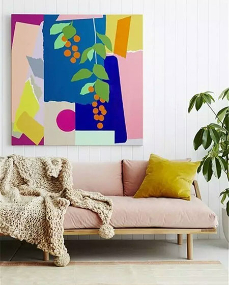 客厅粉色沙发图片大全