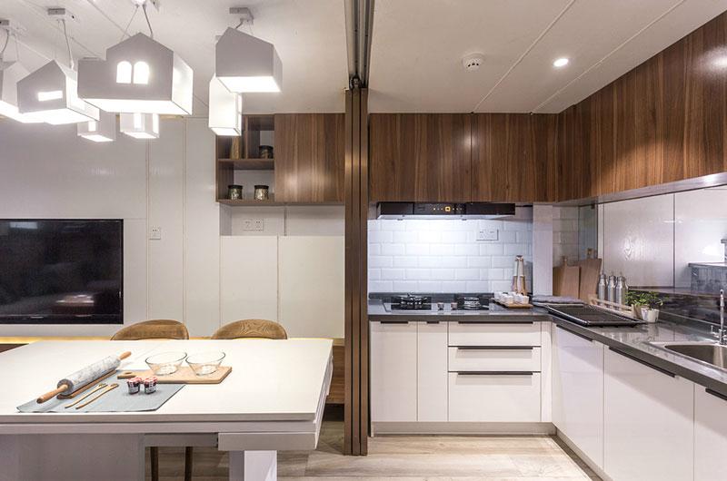 小户型跃层装修厨房设计图