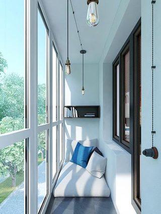 阳台休闲沙发布置图