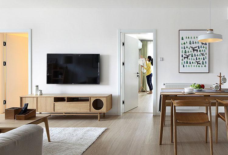 100平日式三居室客厅电视柜图片