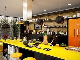 让整个家亮起来  10个亮黄色厨房实景图