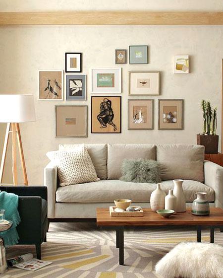 沙发背景墙照片墙设计