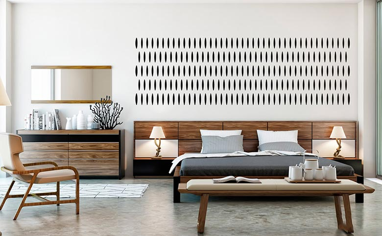 木质白色卧室设计平面图