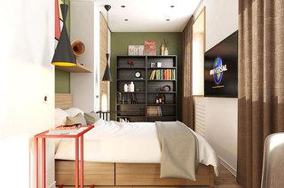 60平北欧小二居主卧室效果图设计