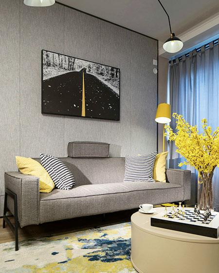 79平样板房装修双人沙发设计