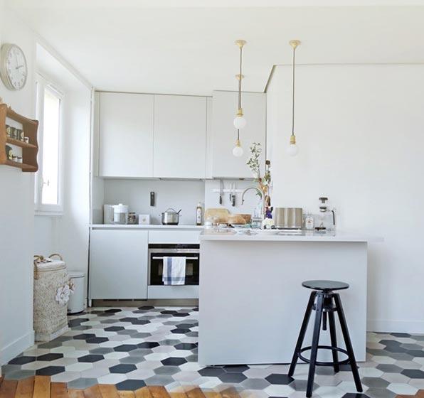 白色系厨房设计欣赏图