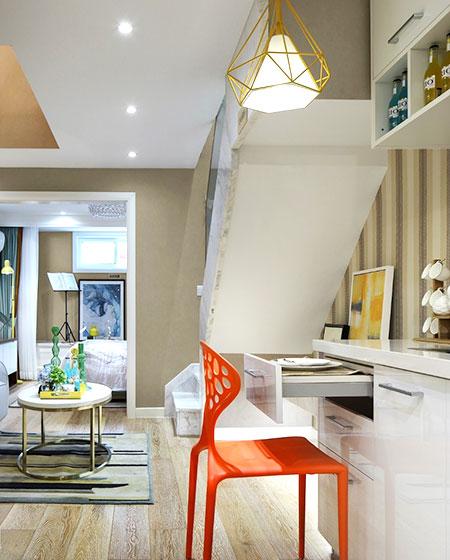 小户型loft装修客厅书房设计