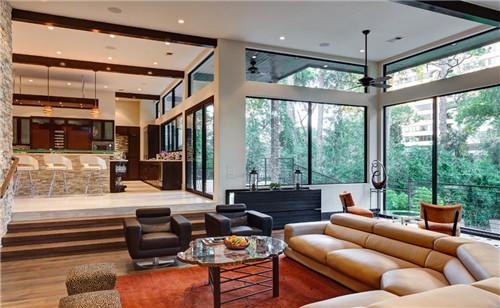 现代别墅客厅装修效果图 土豪业主都爱这样装