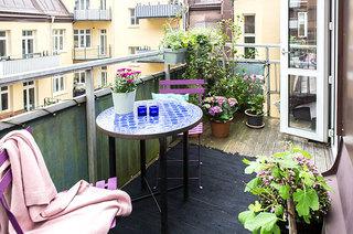 94平一居室装修阳台花园设计