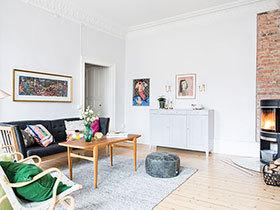 94平一居室旧房改造装修 梦幻清爽小公寓