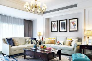 168平美式四居客厅效果图