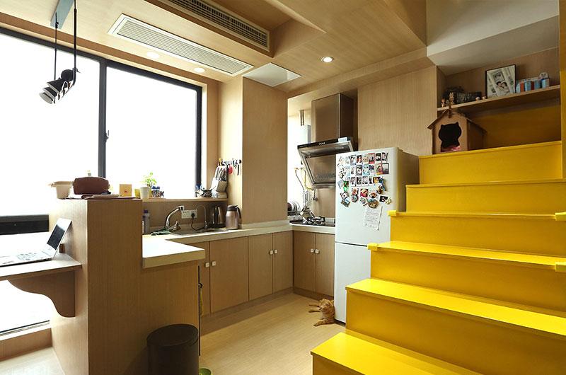 35平loft装修厨房效果图