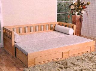 小户型木质沙发床装修效果图