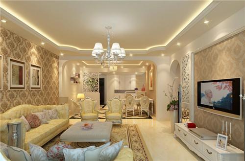 客厅欧式装修效果图 欧式风演绎高端奢华美图片
