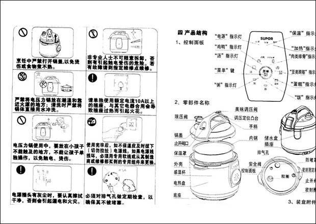 【详解】苏泊尔电压力锅使用说明书