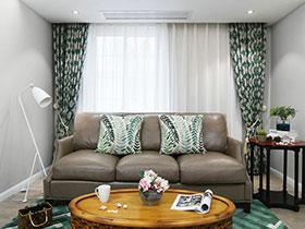 浪漫古典美式 三室两厅家装设计