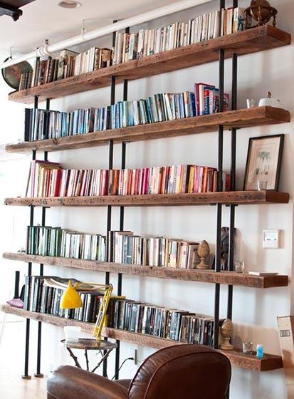 墙面书架书架欣赏图片