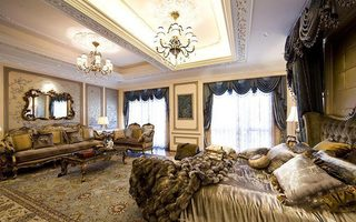 古典主卧室整体装修效果图