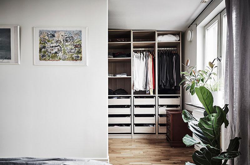 北欧风格两室两厅卧室衣帽间装修