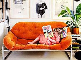 11个客厅丝绒沙发效果图 舒适美观两不误