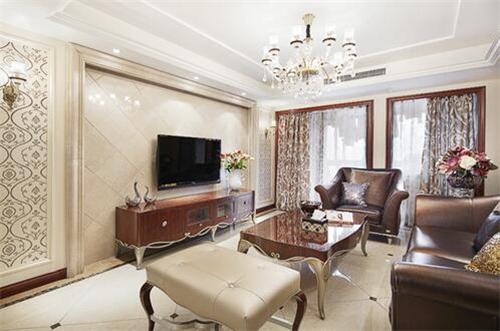 资讯 案例 按风格查看 正文  简欧设计风格中对客厅电视背景墙的装修图片