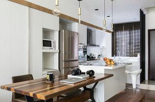 115平简约风格装修餐厅厨房设计