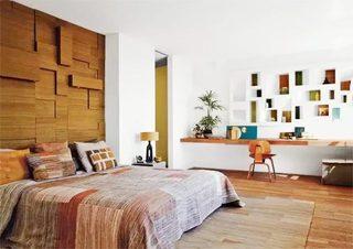 木质卧室背景墙图片