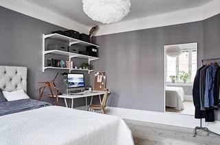 70平北欧风格公寓卧室效果图装修
