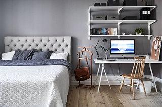 70平公寓装修卧室书桌装修效果图