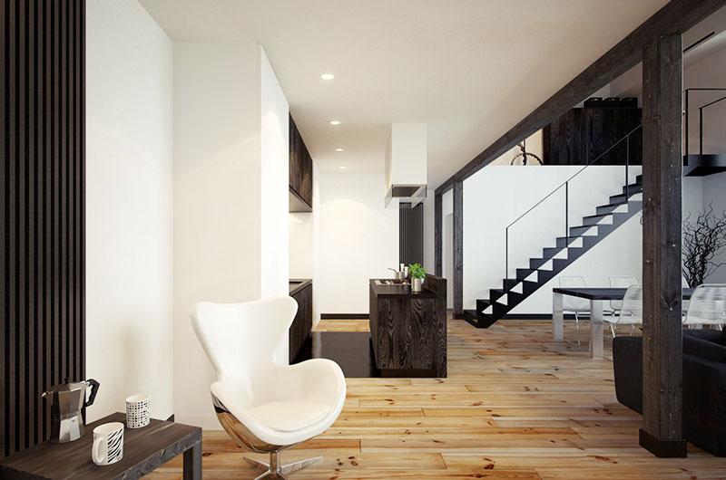 75平小户型loft装修单人沙发图片