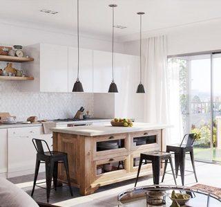 北欧风格厨房装修参考图