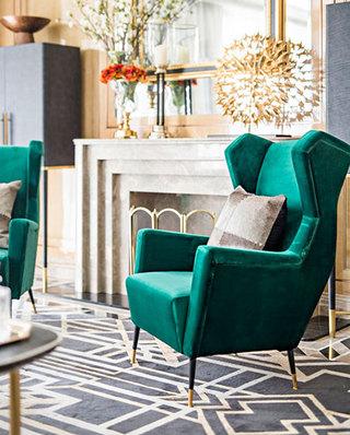 优雅客厅单人沙发效果图