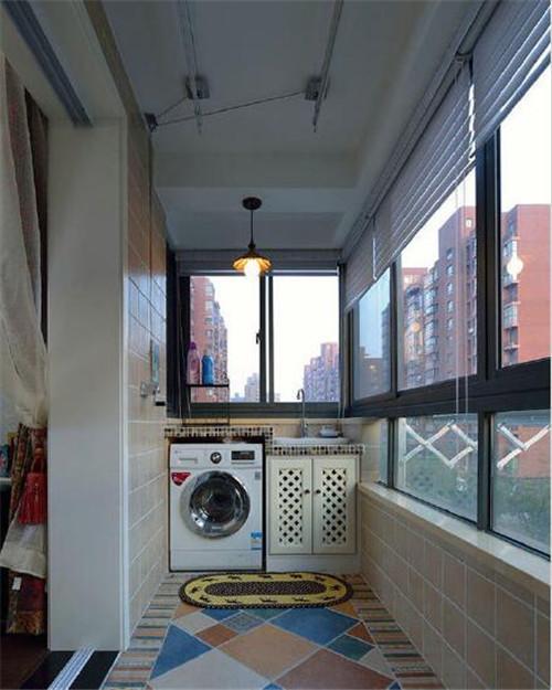 晾衣阳台装修效果图 阳台利用好美观既实用