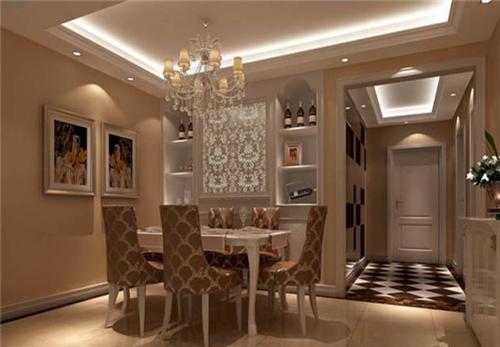 盛腾美巢家装】欧式小户型装修效果图   此图描绘的是居室中的大厅,虽图片