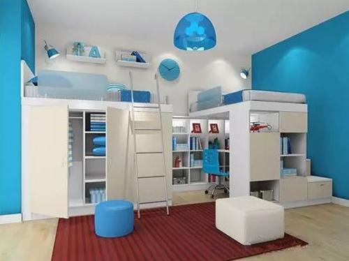 【西安盛腾美巢家装】儿童房双层床装修效果图 陪伴是