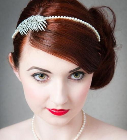 婚纱照新娘发型图片 新娘发型设计与脸型搭配