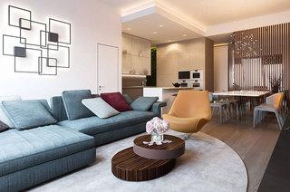 简约阁楼公寓装修客厅效果图