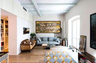混搭风格旧房改造装修客厅设计图